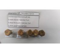 Комплект жиклеров (форсунки,сопло) под баллонный газ, для плит Карпаты
